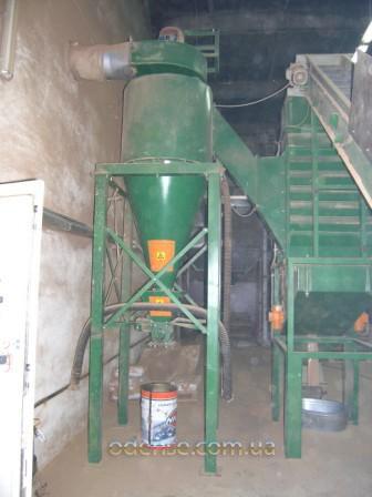 Отвод сухой биомассы