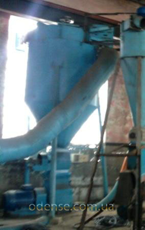 Отвод высушенной биомассы