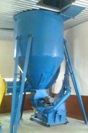 Система отвода высушенной биомассы, циклон